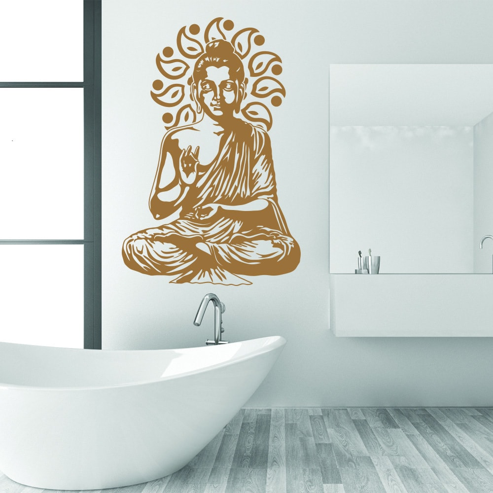 Style & Apply Buddha Gold Vinyl Removable Wall Decal