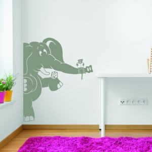 Style and Apply 'Elephant and the Mouse' Vinyl Wall Decal and Sticker Mural Art Home Decor