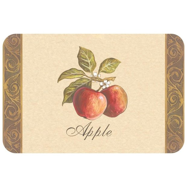 Counterart Reversible Plastic Wipe Clean Placemats - Heirloom Apple & Pear (Set of 4)