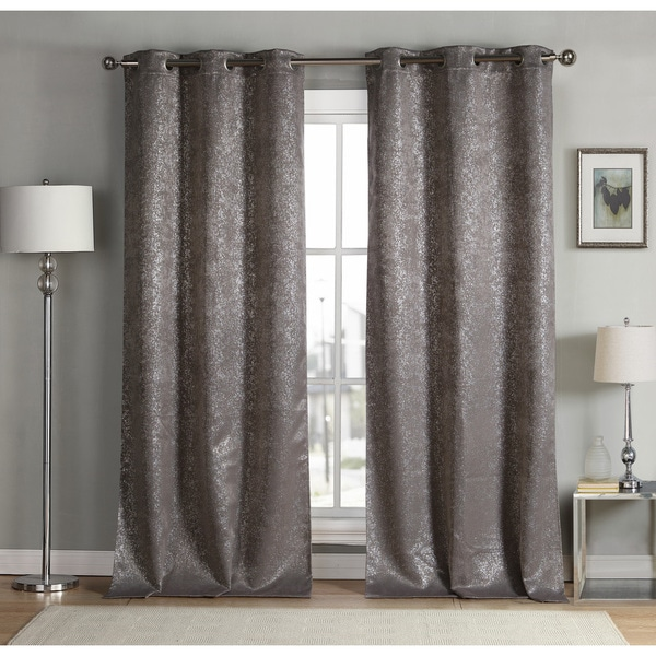 Shop Maddie Metallic Heavy Blackout Grommet Curtain Panel