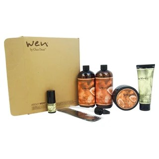 wen hair care 6 piece pomegranate deluxe kit free shipping today overstock