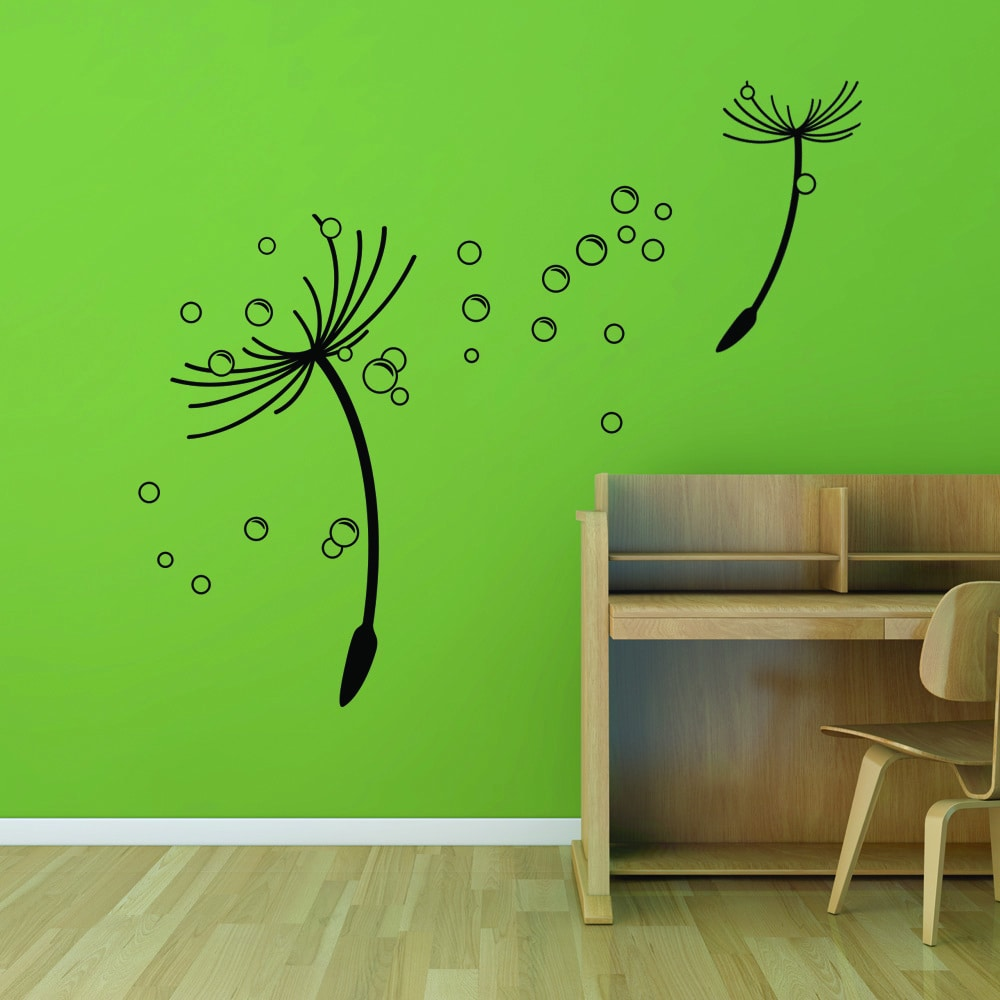 Style and Apply Flying Dandelions Vinyl Wall Decal and Sticker Mural Art Home Decor