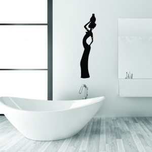 Style and Apply African Woman Vinyl Wall Decal and Sticker Mural Art Home Decor