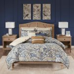 Cotton Bedroom Comforters Hampton Hill Urban Chic King Size Bed Comforter Duvet 2 In 1 Set Bed In A Bag Paisley 9 Piece Bedding Sets Navy Gold Bedding Sets Collections Home Kitchen