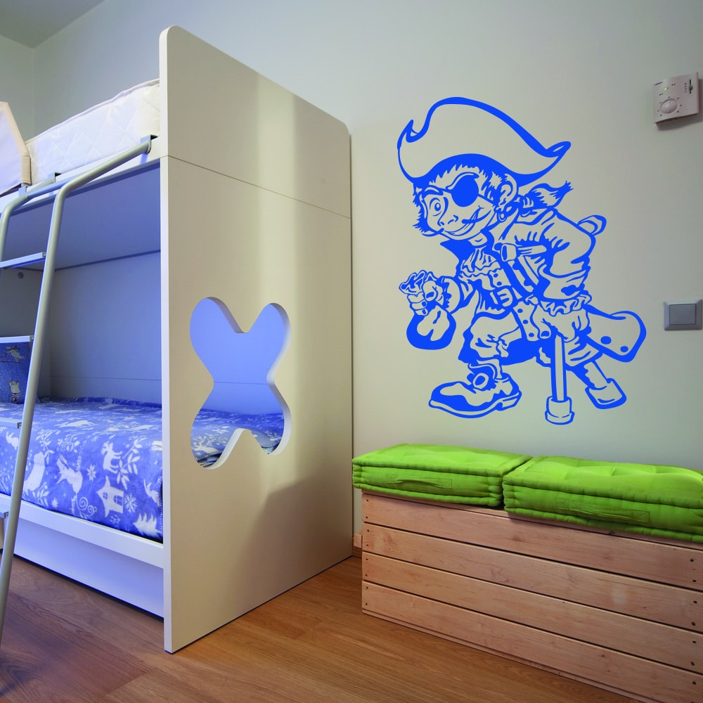 One Leg Pirate' Vinyl Wall Art Decal Sticker
