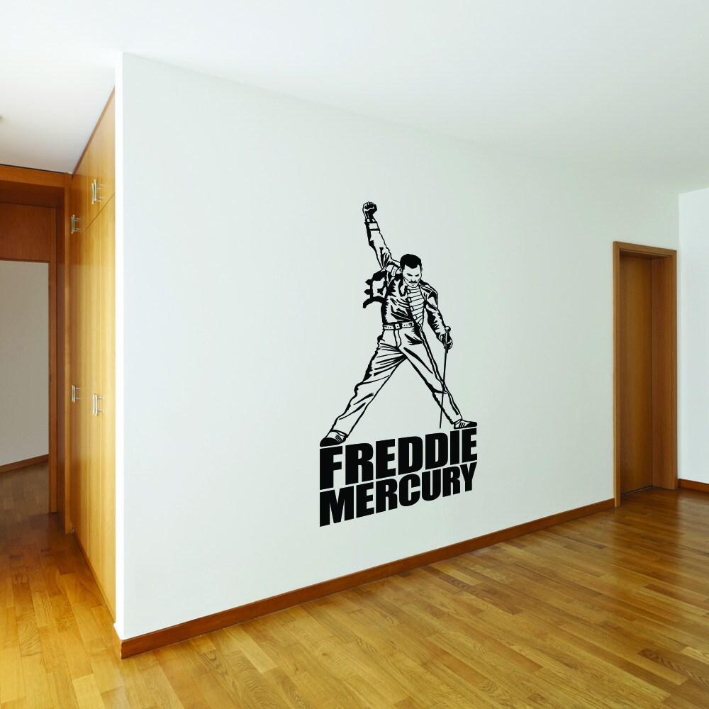Style and Apply Freddie Mercury Vinyl Wall Decal