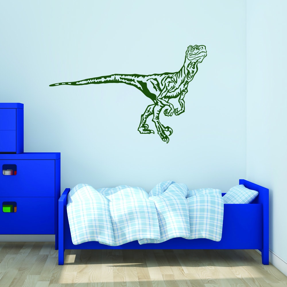 Style and Apply Velociraptor Vinyl Wall Decal