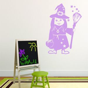 Style and Apply Little Witch Vinyl Wall Decal and Sticker Mural Art Home Decor