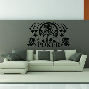 Style and Apply Poker Vinyl Wall Decal and Sticker Mural Art Home Decor