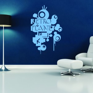 Style and Apply Retro Planet Vinyl Wall Decal and Sticker Mural Art Home Decor