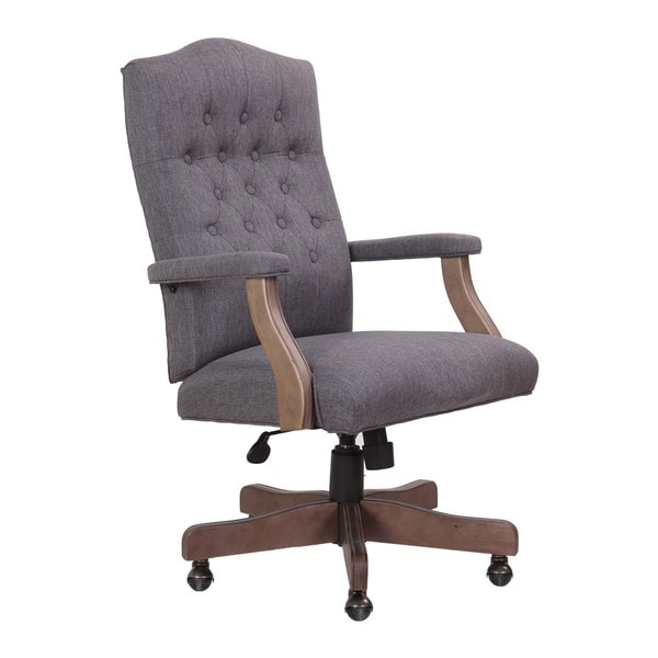 swivel chair regal glides for tile floors shop gracewood hollow bogdani grey driftwood high back executive free shipping today overstock com 22695817