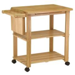 Kitchen Utility Carts Drop Leaf Table Chairs Shop Winsome Wooden Storage Cart With Pull Out Cutting Board