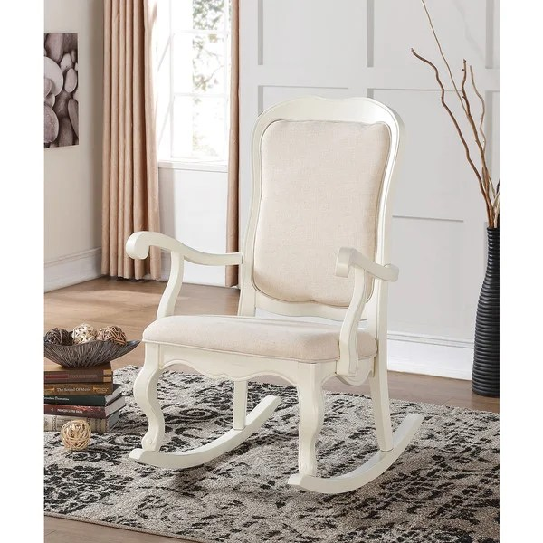 white wood rocking chair chairs for round table shop sharan antique wooden free shipping today overstock com 12021420