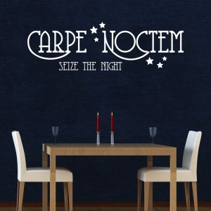Style & Apply Carpe Noctem II White Vinyl Removable Wall Decal
