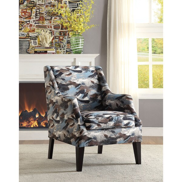 fabric accent chairs living room ceiling designs for images shop zarate patterned chair free shipping today overstock com 12026546