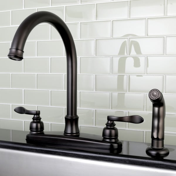 kitchen side sprayer furniture storage shop designer oil rubbed bronze faucet with free shipping today overstock com 12041348