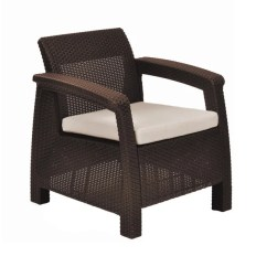All Weather Garden Chair Black Bungee Shop Havenside Home Quintana Brown Outdoor Patio Armchair With Cushion