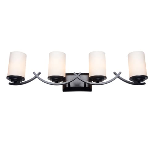 Shop Oil Rubbed Bronze 4 Light Bathroom Vanity Light Fixture Overstock 12063339