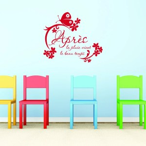 Style and Apply Apres la pluie Red Vinyl Removable Wall Decal