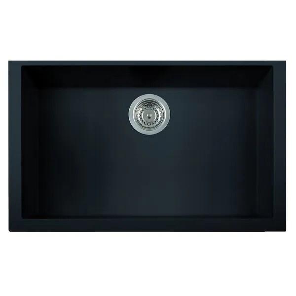 undermount single bowl kitchen sink home depot appliance packages shop alfi black granite composite 30 inch
