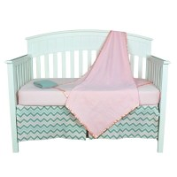 Shop Pink and Grey Zig Zag Chevron Five-piece Baby Girl ...