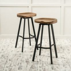 Shop for Albia 32-inch Swivel Barstool (Set of 2) by Christopher Knight Home. Get free shipping at Overstock - Your Online Furniture Outlet Store! Get 5% in rewards with Club O! - 12091240