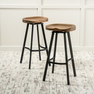 kitchen stools with backs wall fan buy counter bar online at overstock com our best dining albia 32 inch swivel barstool set of 2 by christopher knight home