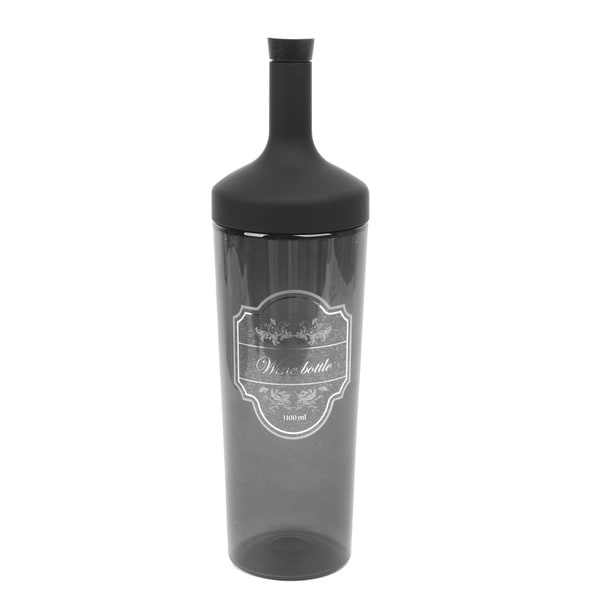 Shop Wine Bottle-shaped Transparent Black Plastic 1.1 ...