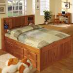 Shop Black Friday Deals On Honey Finished Pine Wood Full Size 12 Drawer Captains Bed On Sale Overstock 12103930
