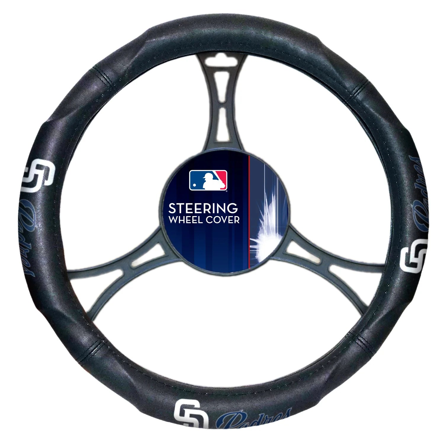 The Northwest Company Padres Multicolored Car Steering Wheel Cover