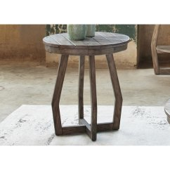 Pomona Sofa Corner And Table Outdoor Hayden Way Gray Wash Reclaimed Wood Round Chair Side ...