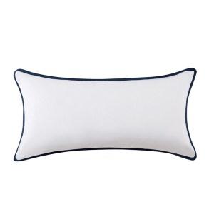 Vince Camuto Lyon Signature Cotton Bolster Throw Pillow