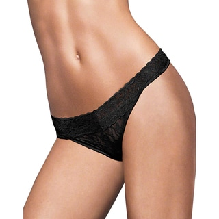 Maidenform Womens Snow Leopard Lace Thong One Size Fits
