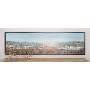 Modern 20 Inch Framed Abstract Landscape Canvas Art by Studio 350 - multi