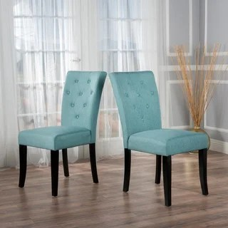 cloth dining room chairs dxracer chair cheap buy blue fabric kitchen online at overstock nyomi set of 2 by christopher knight home