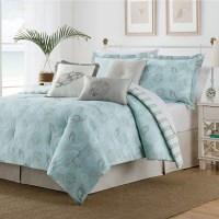 Seashell Blue/ Tan 7-piece Comforter Set - Free Shipping ...