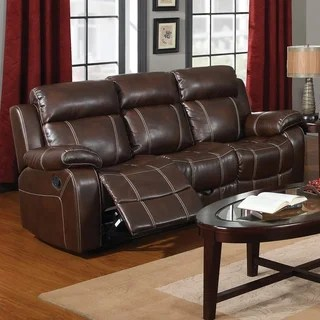 reclining leather sofas cuddler sofa bed buy recliner couches online at overstock com our coaster company brown motion
