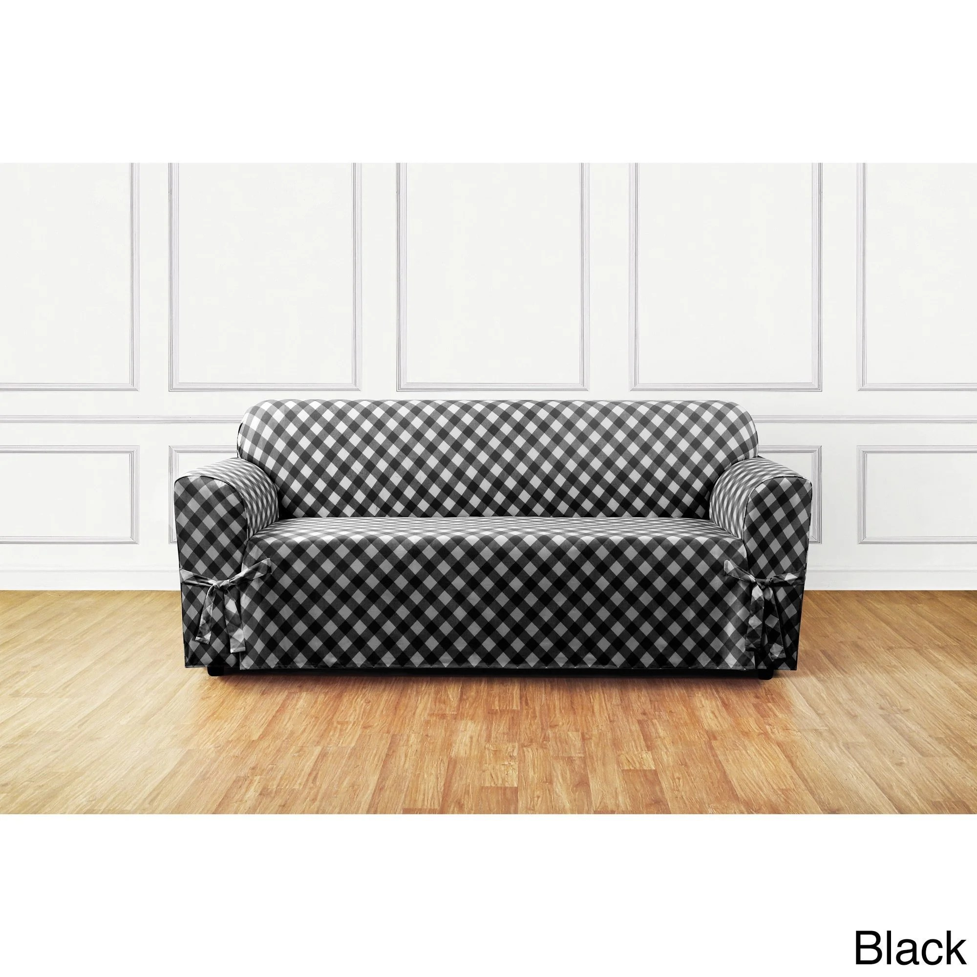 buffalo check sofa cover adele surefit