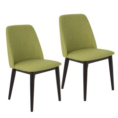 Green Upholstered Dining Chairs Buy Chiavari Shop Tintori Fabric Mid Century Style Set Of 2