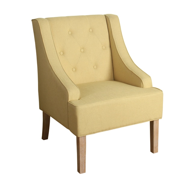 tufted yellow chair master gym fitness reviews shop copper grove gwillim swoop arm accent in soft