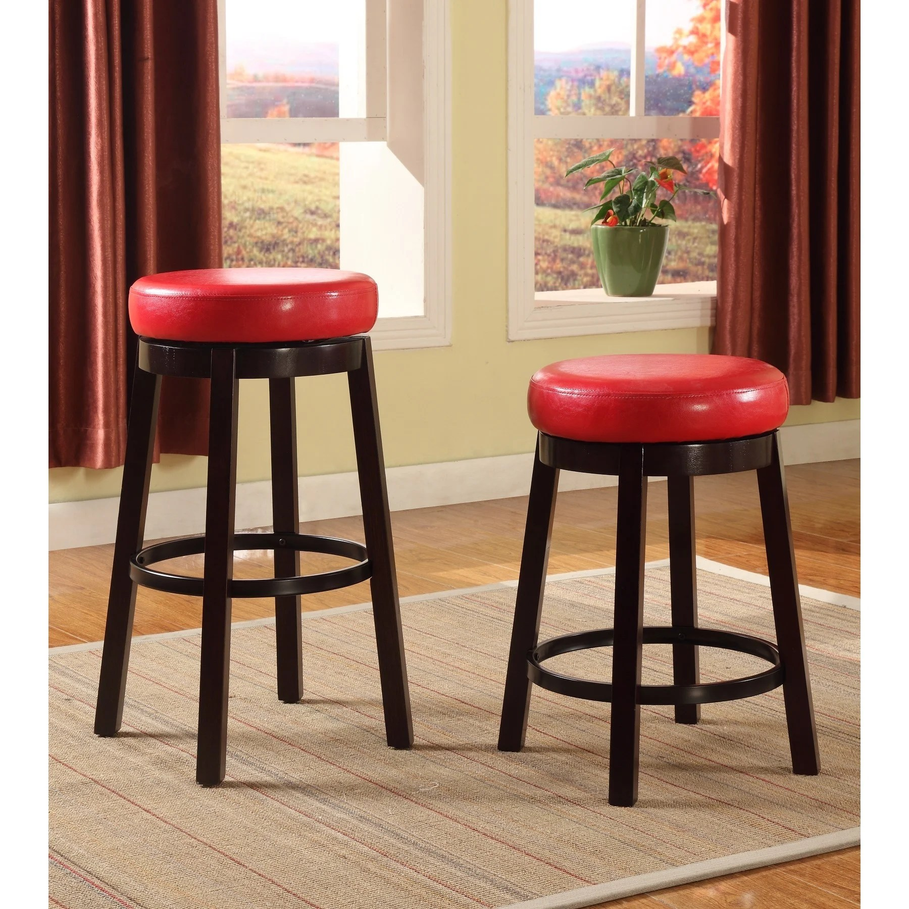 Metal Counter Height Chairs Swivel Counter Height Bar Stool With Leather Seat And
