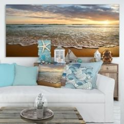Modern Living Room Wall Art Wood Furniture Designs Gallery Shop Our Best Home Goods Deals Online At Overstock Com Bright Cloudy Sunset In Calm Ocean Contemporary Seascape Canvas
