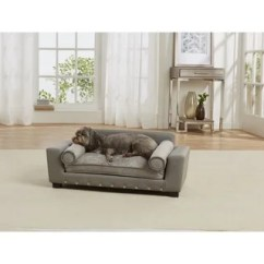 Enchanted Home Mackenzie Pet Sofa Stickley Review Shop Skylar Free Shipping Today Overstock Com 18684070 Scout Grey Faux Leather Bed