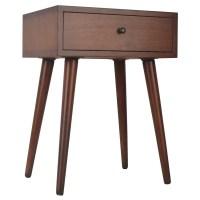 Shop Mid-Century Single Drawer Wood Side Table - On Sale ...