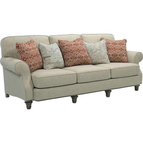 broyhill whitfield beige sofa