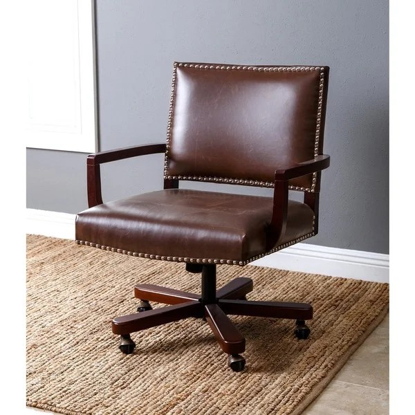 office chair toronto wheelchair rack shop abbyson brown leather ships to canada