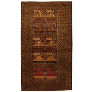 Handmade Herat Oriental Afghan Tribal Wool War Area Rug (Afghanistan) - 3'7 x 6'2