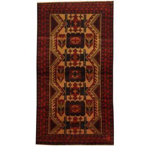 Handmade Herat Oriental Afghan Tribal Balouchi Wool Area Rug (Afghanistan) - 3'5 x 6'4