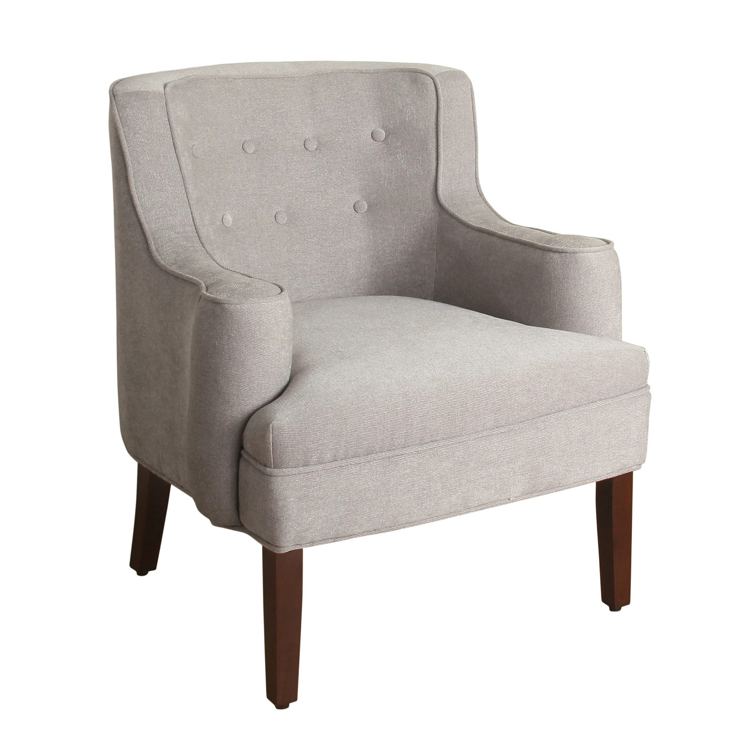 Armed Accent Chairs Homepop Emily Curved Arm Accent Chair Silver Ebay