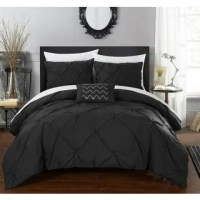 Chic Home Kingston 8-Piece Black Bed in a Bag Duvet Set ...